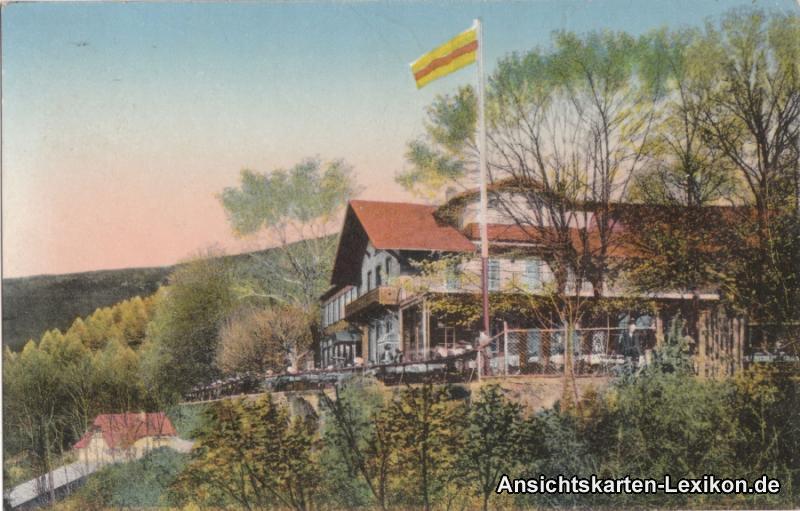 Heidelberg Die Molkenkur colorierte Ansichtskarte c1910