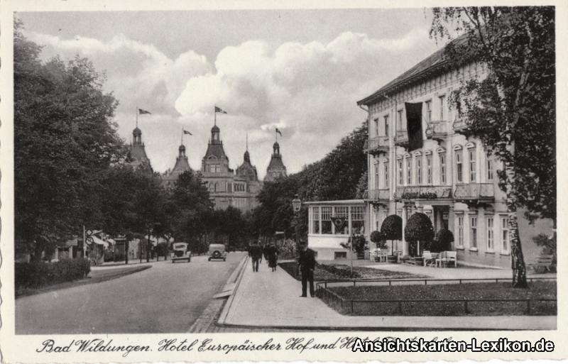 Ansichtskarte Bad Wildungen Hotel Europäischer Hof u Für