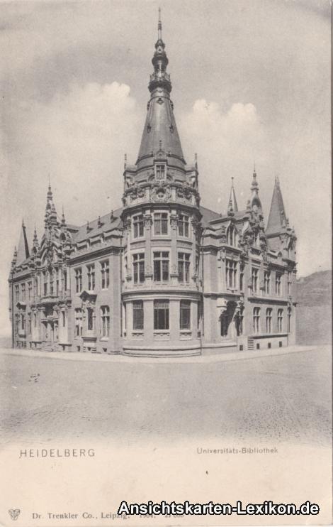 Ansichtskarte Heidelberg Universitäts-Bibliothek c1904