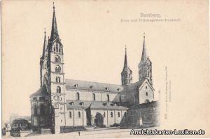 Bamberg Dom und Prinzregenten-Denkmal