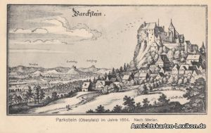 Parkstein (Oberpfalz) im Jahre 1664 (nach Merian)