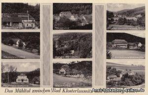 Eisenberg (Thüringen) 9 Mühlen - Karte - Das Mühltal