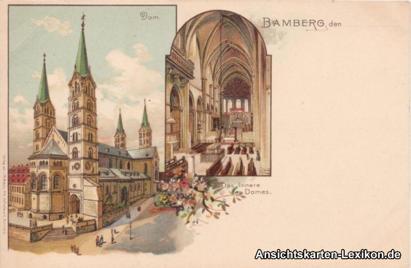 Bamberg Dom 2 Bild AK innen und außen