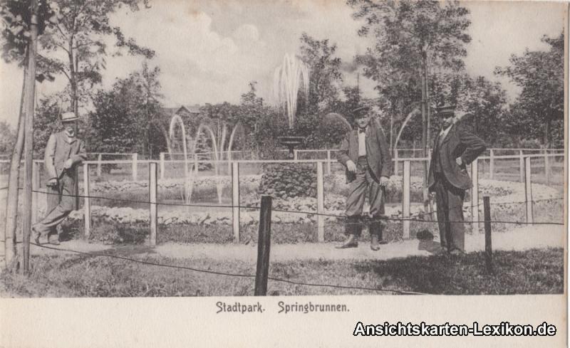 Münchberg Stadtpark - Springbrunnen