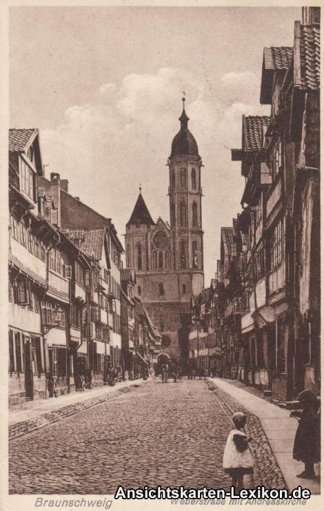 Braunschweig Weberstraße mit Andreaskirche