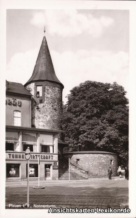 plauen nonnenturm am tunnel 1967 nr 0053792 oldthing ansichtskarten deutschland plz 01. Black Bedroom Furniture Sets. Home Design Ideas