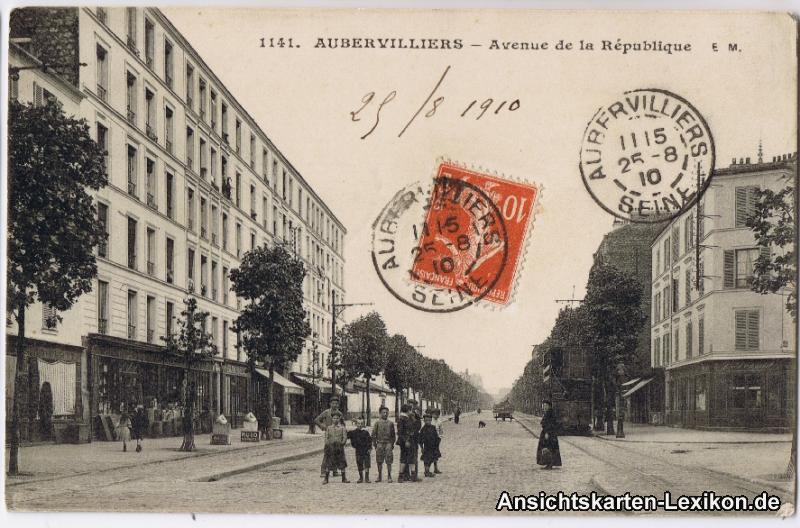 Aubervilliers Straße der Republik (Avenue de la Republiq