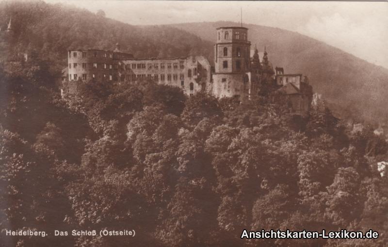 Heidelberg Das Schloss (Ostseite)