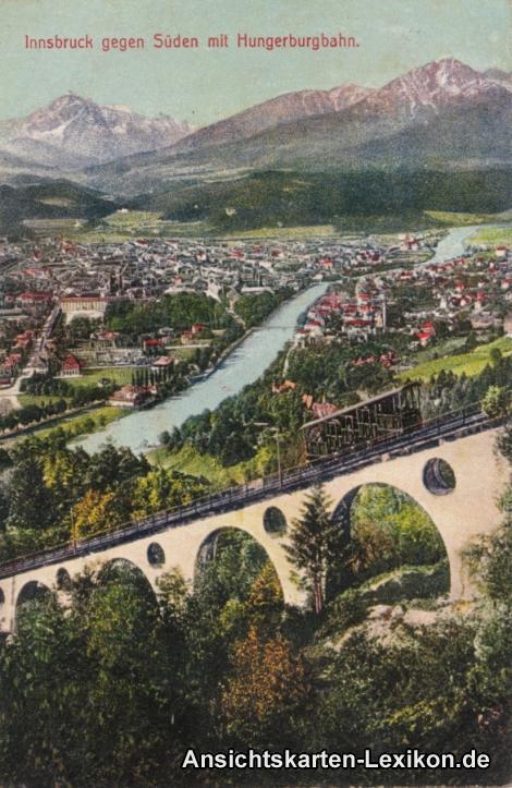 Innsbruck gegen Süden mit Hungerburgbahn