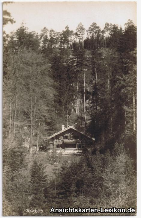 Dittersbach (Böhm. Schweiz) Balzhütte - Foto AK
