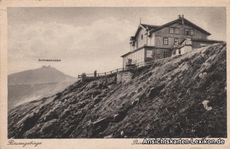 Postcard Krummhübel Karpacz Prinz Heinrich Baude 1926