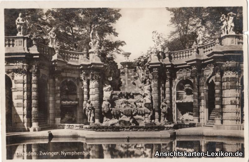 0 Zwinger: Nymphenbad - Foto Ansichtskarte