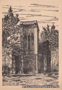 Weimar Tempelherrnhaus - Künstler AK