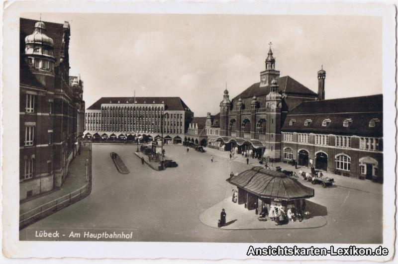 Lübeck Am Hauptbahnhof - Foto AK