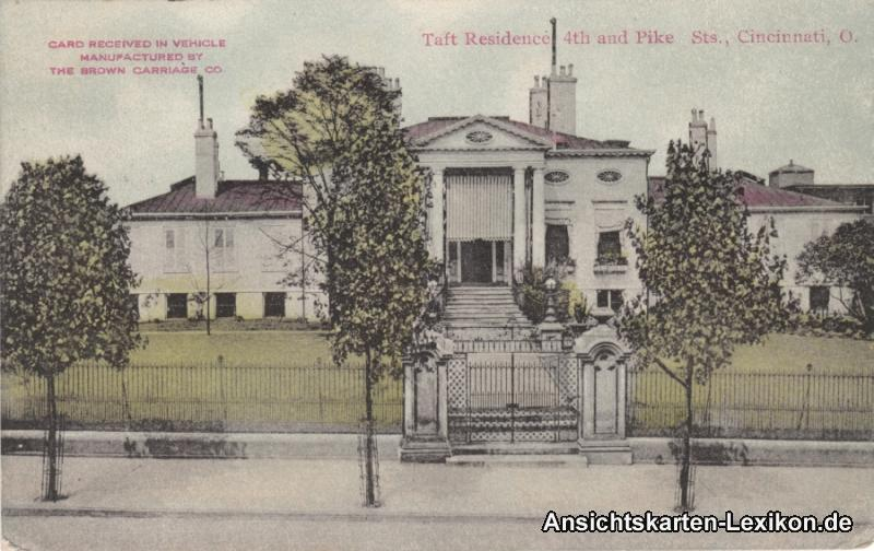 Cincinnati (Ohio) Taft Residence 4th and Pike Street
