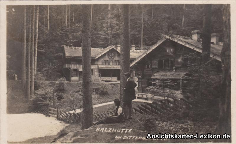 Dittersbach (Böhm. Schweiz) Partie an der Balzhütte