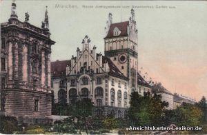 München Neues Justizgebäude vom Botanischen Garten aus