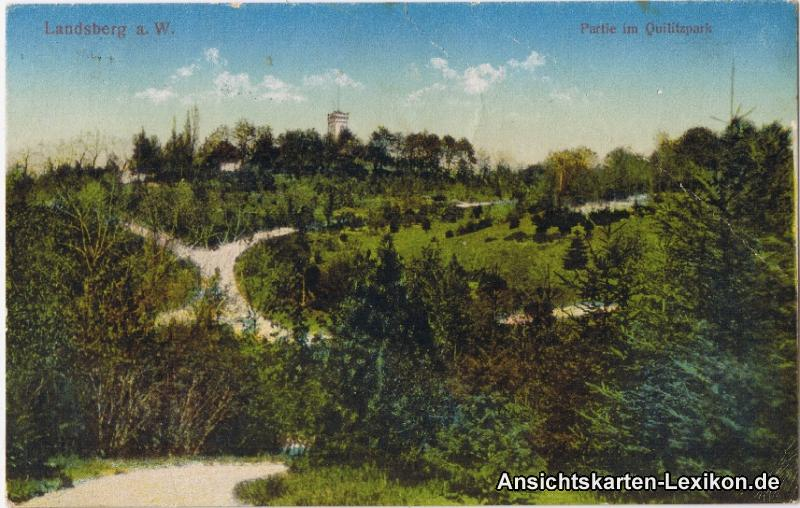 Landsberg (Warthe) Partie im Quilitzpark