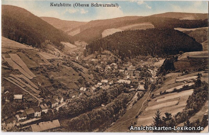 Katzhütte (Schwarzatal) Blick auf... Panorama