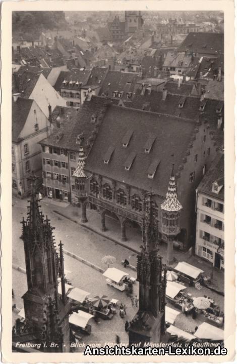 Freiburg im Breisgau Blick vom Münster auf den Münsterpl