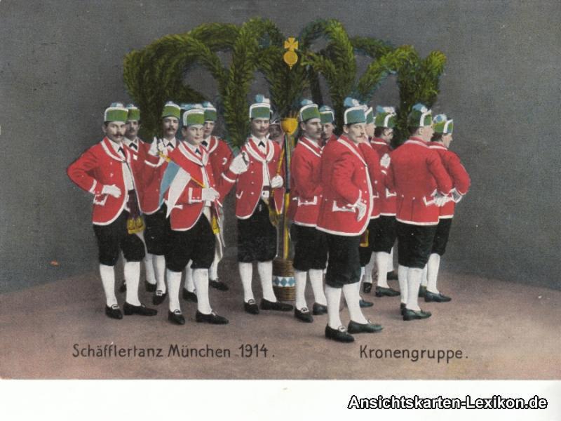 Bayern (allgemein) Schäfflertanz München 1914 - Kronengr