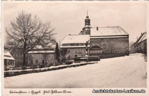 Foto Ansichtskarte Lauenstein Erzgebirge Hotel Goldener