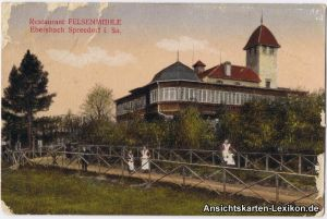 Ansichtskarte Ebersbach (Löbau Zittau) Restaurant Felsen