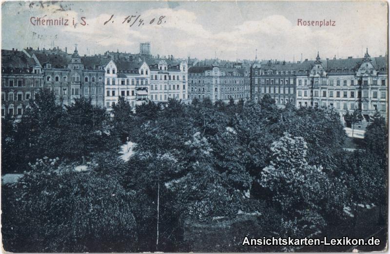 Ansichtskarte Chemnitz Rosenplatz g1908