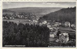 Ansichtskarte Finsterbergen Friedrichroda Totalansicht g