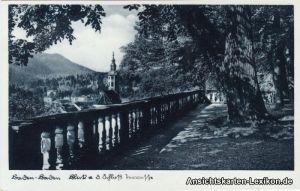 Ansichtskarte Baden-Baden Blick auf das Schloß c1939