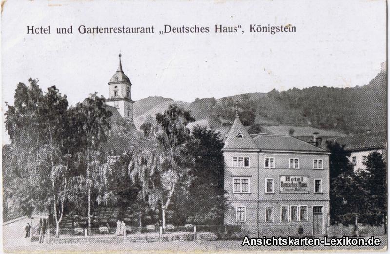 Ak Radeburg Sachsen Fleischerei und Hotel Deutsches