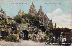 Ansichtskarte Leipzig Zoologischer Garten - Berganlage c