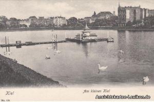 Ansichtskarte Kiel Partie am kleinen Kiel 1905