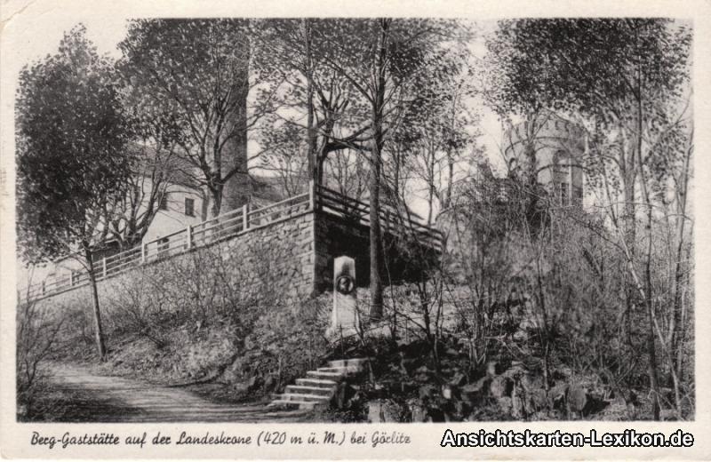 Ansichtskarte Görlitz Berggaststätte auf der Landeskrone