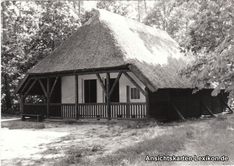 Graal-Müritz Partie am Fischerhaus Privatfoto Ansichtskarte 1955