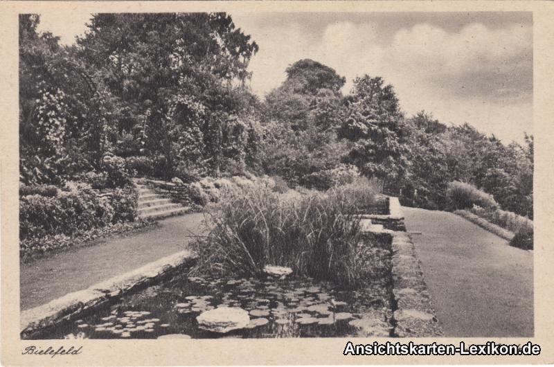 Ansichtskarte Bielefeld Botanischer Garten c1940
