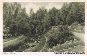 Ansichtskarte Bad Polzin Partie im Park Połczyn Zdrój Pommern pomorskie 1928