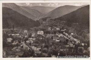 Tabarz Thüringer Wald Luftbild Ansichtskarte b Eisenach