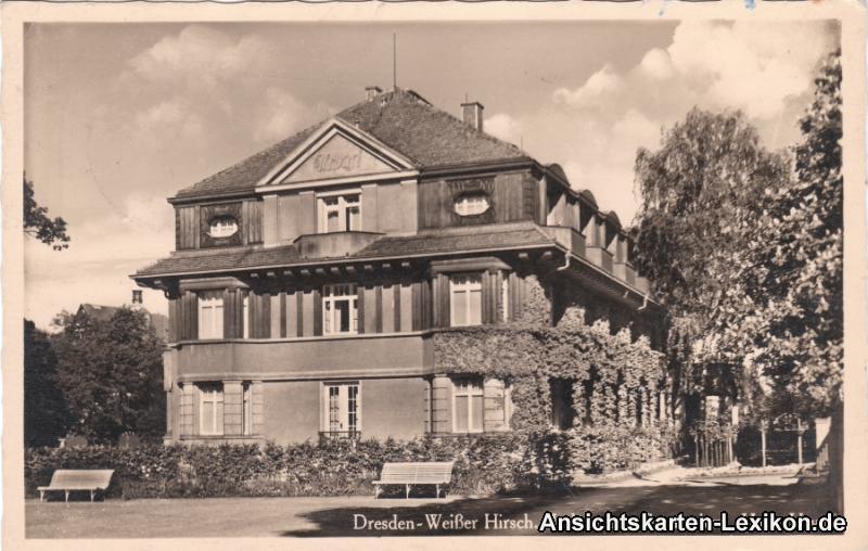Foto Ansichtskarte Dresden Weißer Hirsch Lahmann´s Sanat