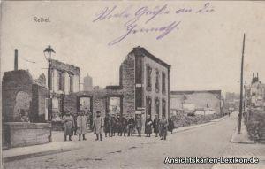 Ansichtskarte GPC Rethel Zerstörtes Haus mit Soldaten (W