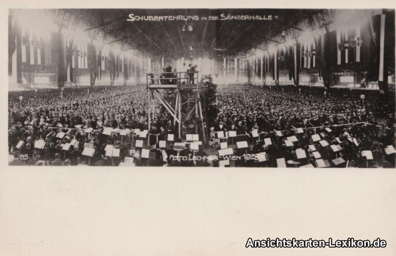 Wien Schubertehrung in der Sängerhalle