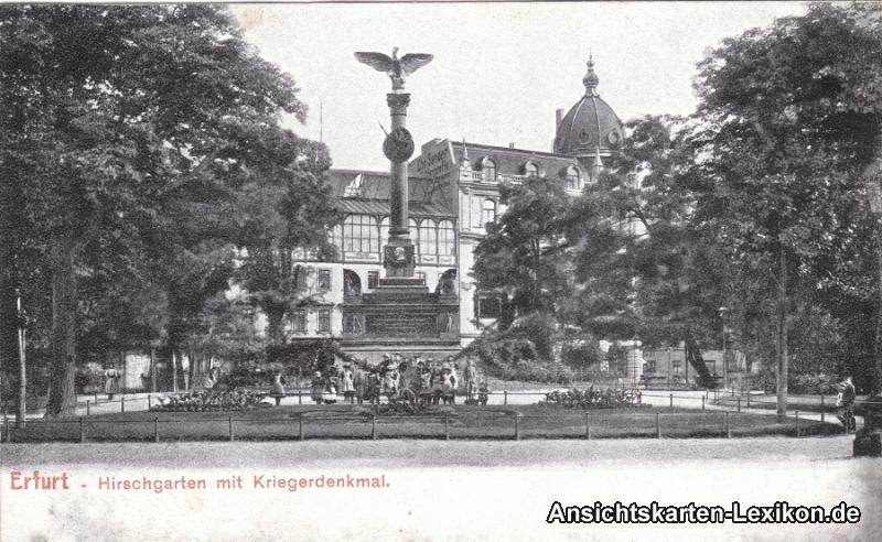Erfurt Hirschgarten mit Kriegerdenkmal
