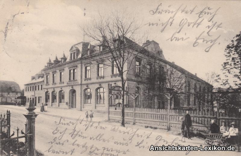 Grüna Chemnitz Partie am Hotel Claus Ansichtskarte 1915