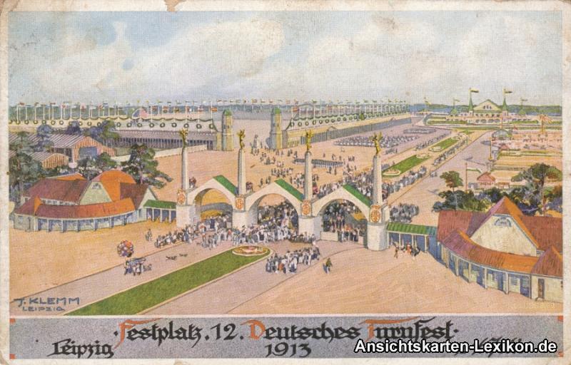 Leipzig Festplatz 12. Deutsches Turnfest