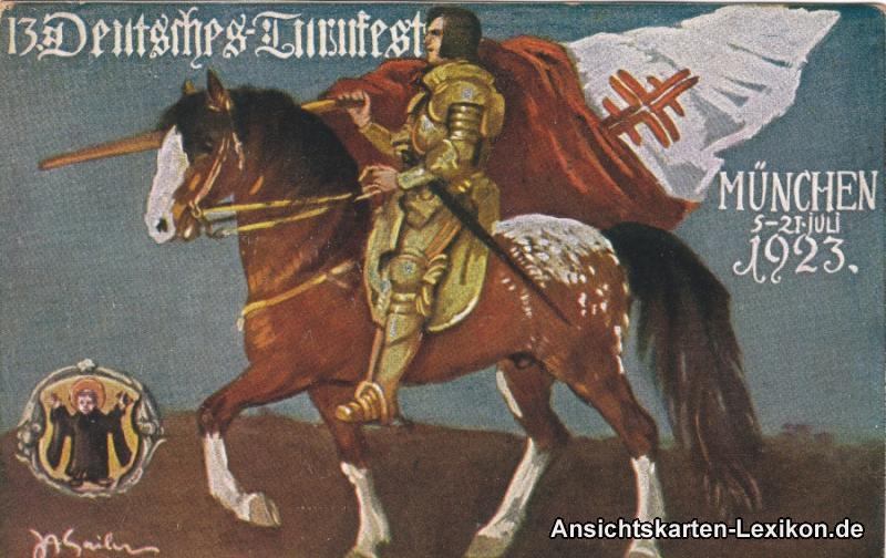 München 13. Deutsches Turnfest 5.-21. Juli 1923