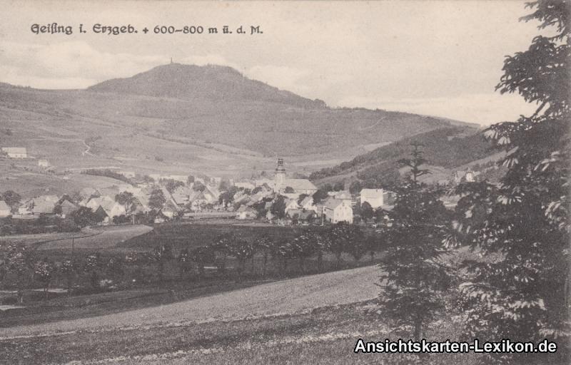 Ansichtskarte Geising Totalansicht b Altenberg Glashütte