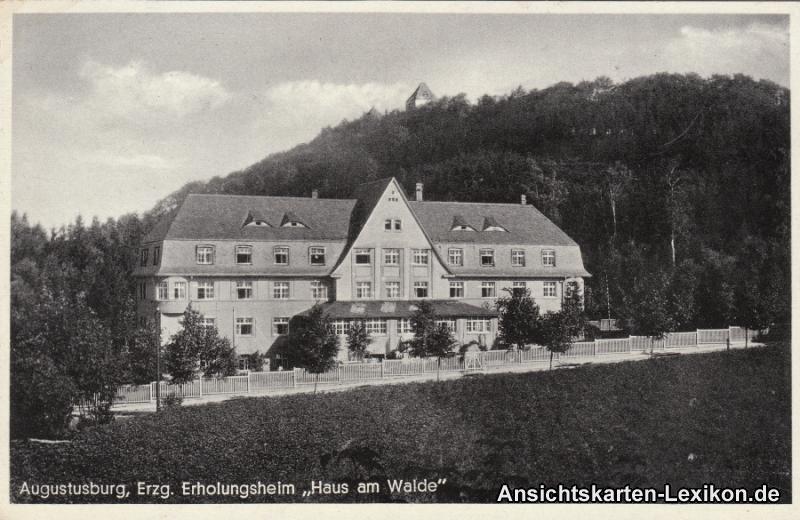 Ansichtskarte Augustusburg Erholungsheim