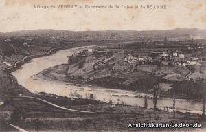 Ansichtskarte CPA Commelle-Vernay Ansicht mit Loire Roan