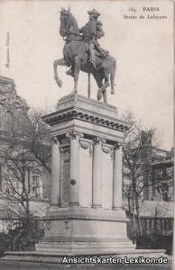 GPC Postcard Paris Statue de Lafayette 1914