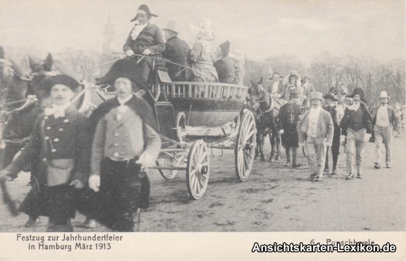 Hamburg Festzug zur Jahrhundertfeier 1913 - Punschbowle